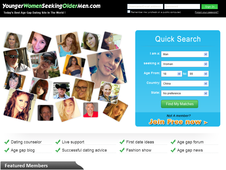Age gap dating sites